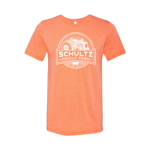 Schultz Family Farm Short Sleeve T-Shirt-S-Orange-soft-and-spun-apparel