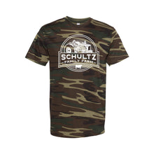 Schultz Family Farm Short Sleeve T-Shirt-S-Green Woodland Camo-soft-and-spun-apparel