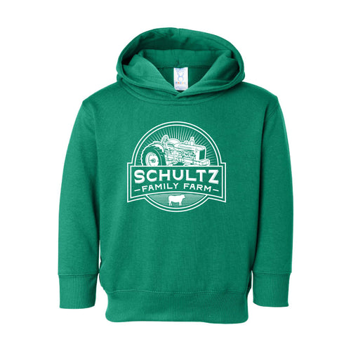 Schultz Family Farm Toddler Hooded Sweatshirt-2T-Kelly-soft-and-spun-apparel