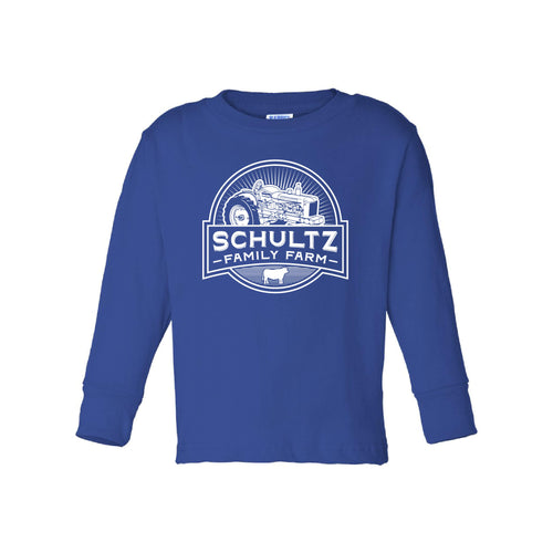 Schultz Family Farm Toddler Long Sleeve Tee-2T-Royal-soft-and-spun-apparel
