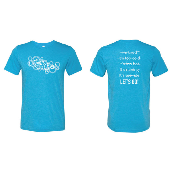 Team Rear in Gear T-Shirt-XS-Aqua-soft-and-spun-apparel