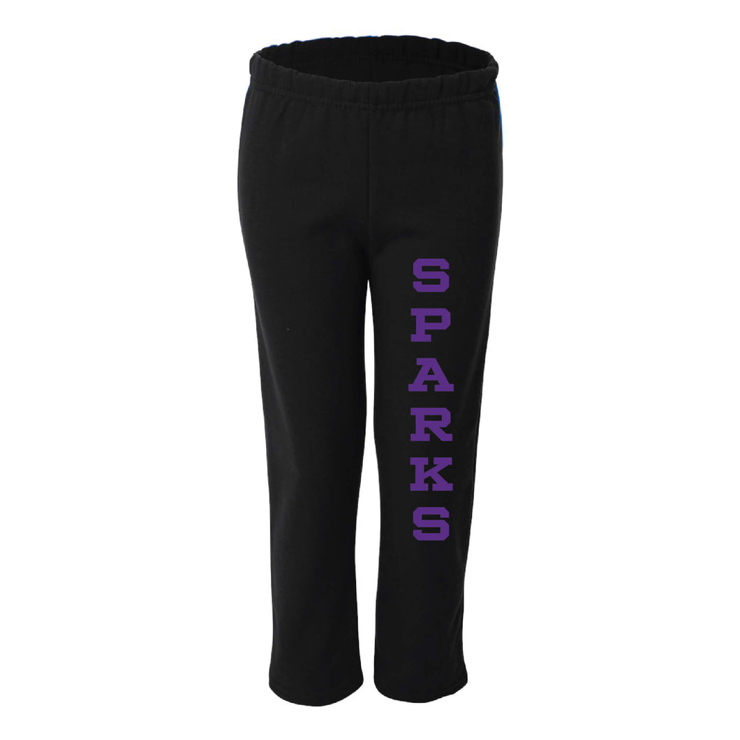 Ankeny Sparks 2019 Sweatpants-Youth Small-Purple-soft-and-spun-apparel