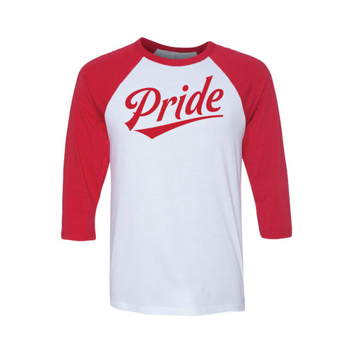 pride baseball tee - lgbt t-shirt - red