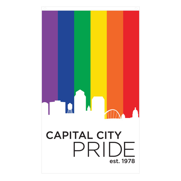 Capital City Pride 3' x 5' Flag-soft-and-spun-apparel