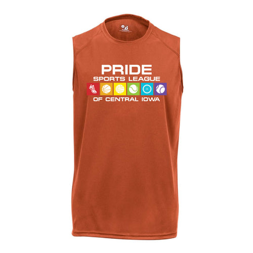 Pride Sports League Full Color Imprint Sleeveless Shirt-S-Burnt Orange-soft-and-spun-apparel