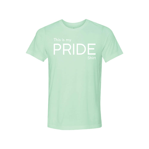 this is my pride shirt - lgbt t-shirt - mint