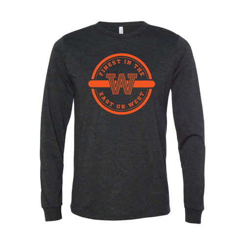 Finest In The East Or West Long Sleeve T-Shirt-XS-Charcoal Black-soft-and-spun-apparel