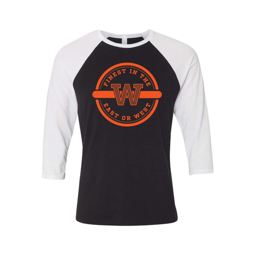 Finest In The East Or West Raglan-XS-Black White-soft-and-spun-apparel