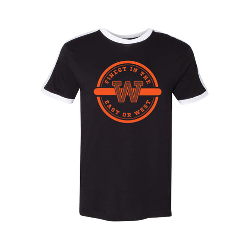 Finest In The East Or West Soccer T-Shirt-S-Black / White-soft-and-spun-apparel