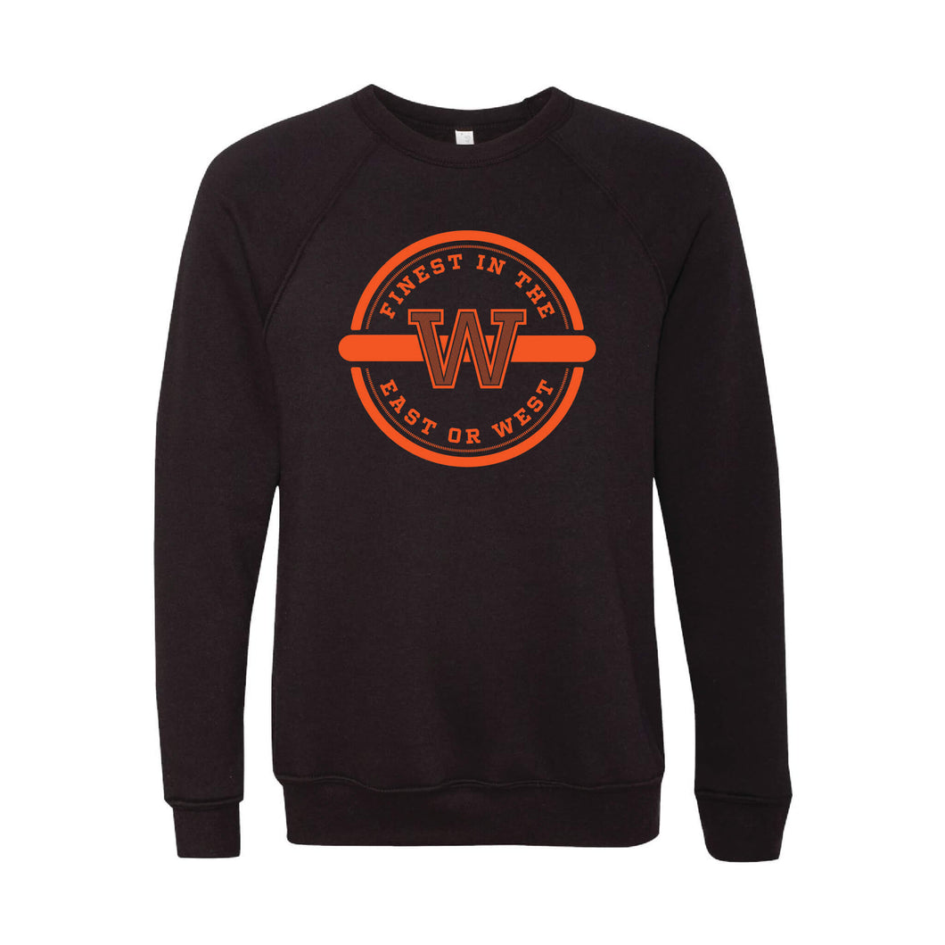 Finest In The East Or West Crewneck Sweatshirt-XS-Black-soft-and-spun-apparel