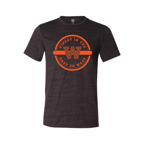 Finest In The East Or West T-Shirt-XS-Charcoal Black-soft-and-spun-apparel
