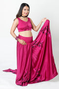PLUM CHOLI STYLE PULL-UP NURSING SARI BLOUSE