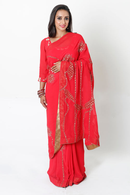 CORAL TWO-STEP SARI* & NURSING BLOUSE RENTAL