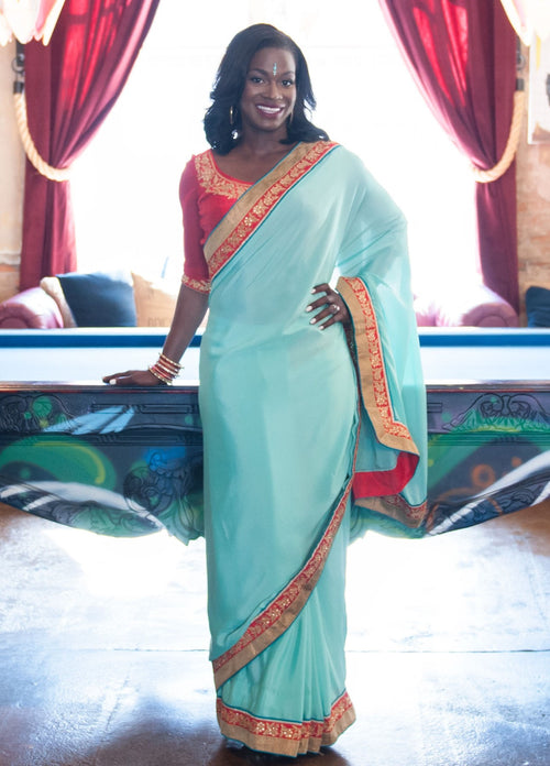 Two Step Sari easy to wear sari Two Step Saree easy to wear saree pre-stitched pre-pleated comfortable saree