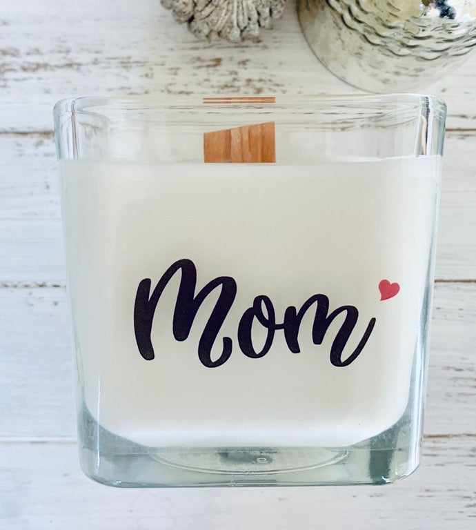 Soy Candle Mom Gifts Gift's For Mom Mother Gift For New Mom Personalized Woodwick Personalized Gift For Mom New Mom Gift - TheShabbyWick