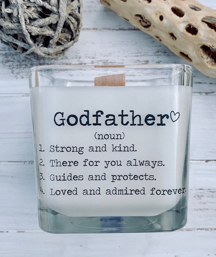 Godfather Gift Godfather Proposal Gifts For Godfather Candle With Message Godfather Baptism Godfather Definition Godfather - TheShabbyWick