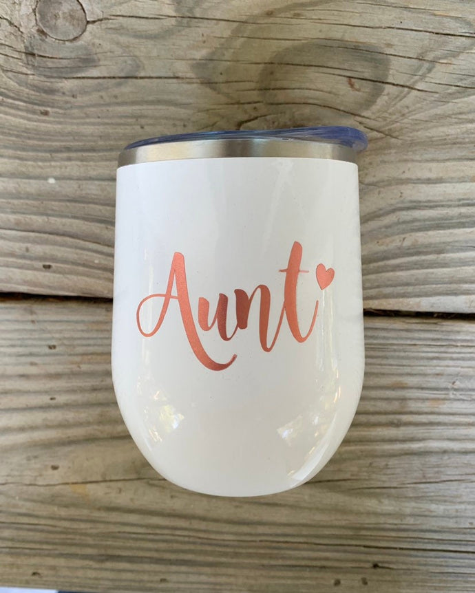 Aunt gift  Best Friend Gift  Gift For Friend  Wine Tumbler  Aunt Birthday Gifts  Name Stainless Cup Personalized Cup With Straw - TheShabbyWick