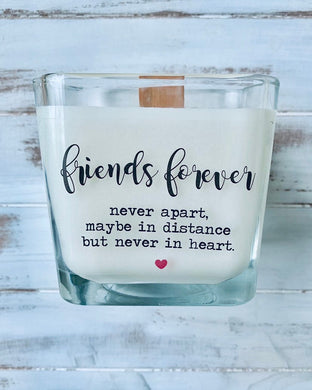 Friend Gift Best Friends Gift Friend Candle Gifts For Friends Personalized Gifts Custom Candle Messages Friend gift exchange - TheShabbyWick