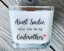 Godmother Gift Godmother Proposal Gifts For Godmother Candle Will You Be My Godmother Keepsake Custom Godmother Card Godmother Gifts - TheShabbyWick