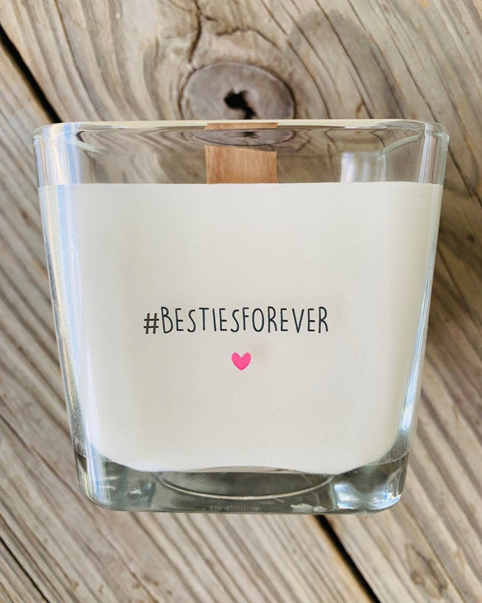 Best Friends Forever Gift BFF Besties Forever Best Friends Gift Friend Candle Gifts For Friends Personalized Gifts Custom Candle Messages - TheShabbyWick