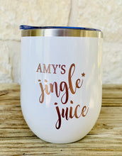 Co- worker Holiday Gift For Co-worker Christmas Gift For Holiday Gift Exchange Custom Wine Tumbler Jingle Juice Funny Holiday Gift - TheShabbyWick