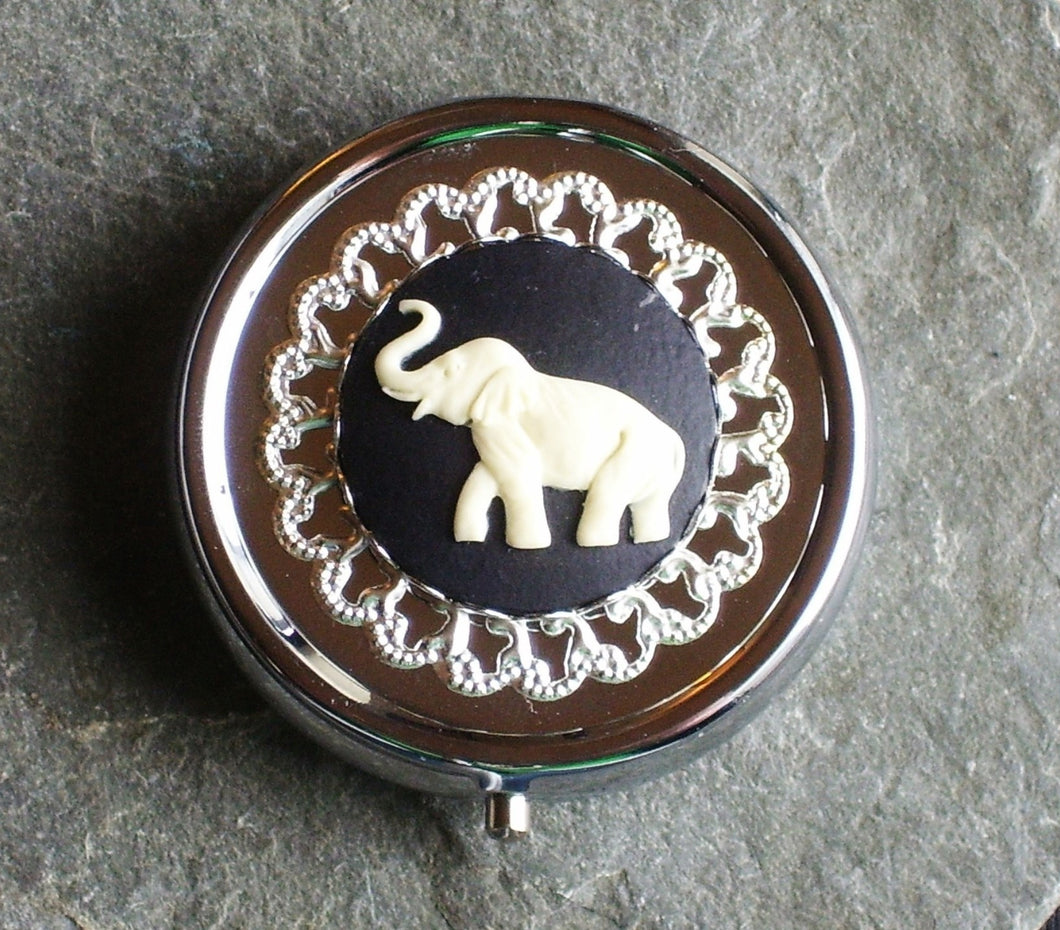 Elephant cameo pill box