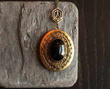 Art deco onyx locket