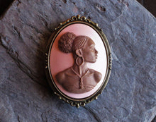 African cameo brooch