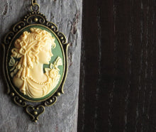 Irish green cameo necklace