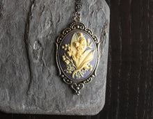 Lily of the valley cameo necklace