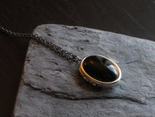 Onyx locket necklace