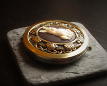 Rabbit cameo compact mirror