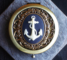 Nautical anchor compact mirror