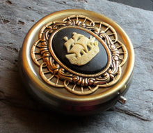 Pirate ship cameo pill box