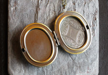Green cameo sisters locket necklace