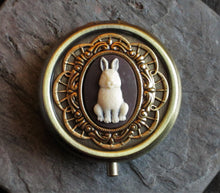 Rabbit cameo pill box