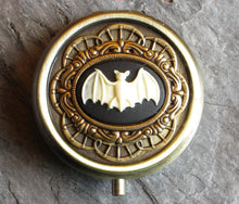 Bat cameo gothic pill box
