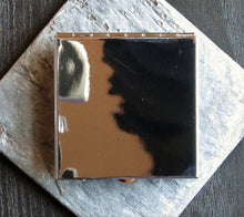 Silver sailboat compact mirror