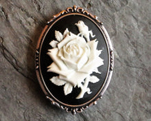 Rose cameo brooch