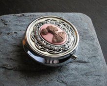 Pink African cameo pill box