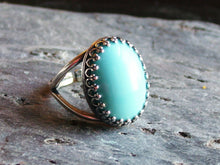 Turquoise glass ring
