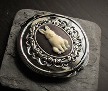 alice in wonderland compact mirror in silver