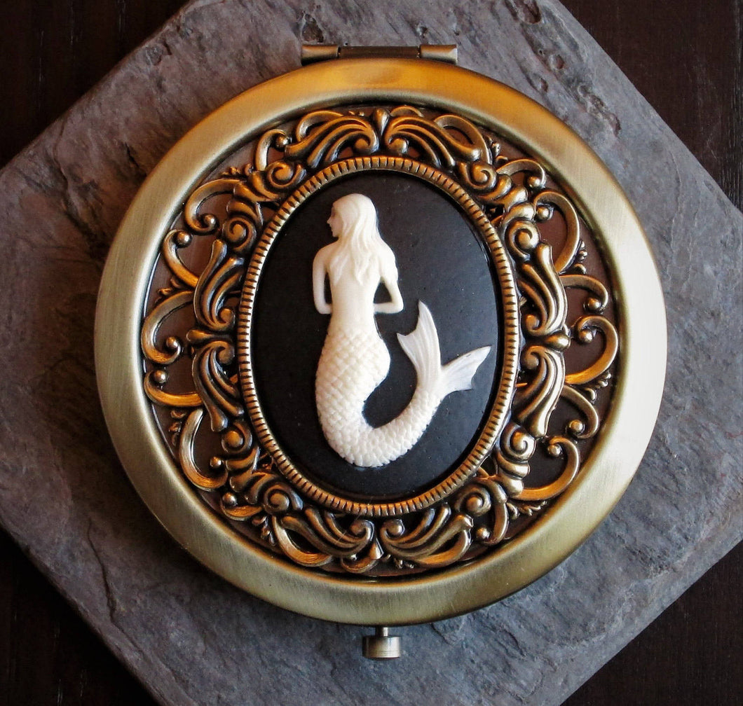 Mermaid compact mirror