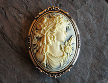 Light blue cameo brooch