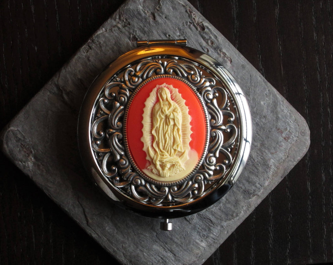 Our lady of Guadalupe compact mirror