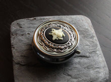Silver bee pill box