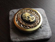Black skeleton compact mirror