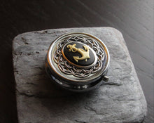 Nautical anchor pill box