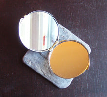African cameo compact mirror in silver