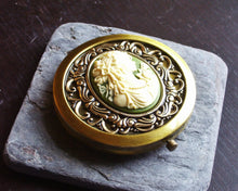 Irish cameo compact mirror
